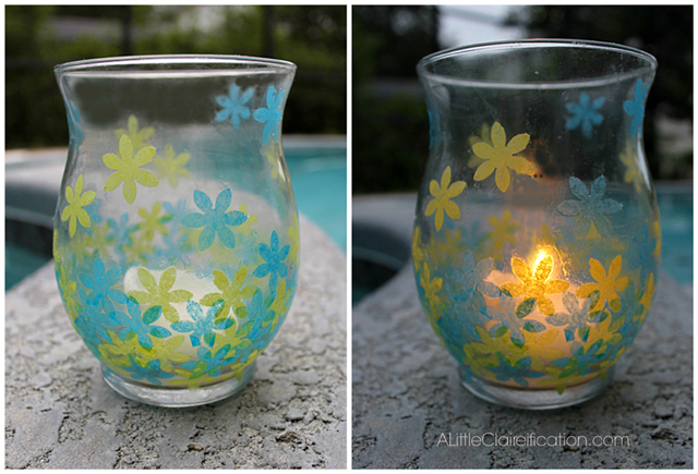 Guest Post   DIY Stained Glass Candle Holders with livelaughrowe.com for day and night use