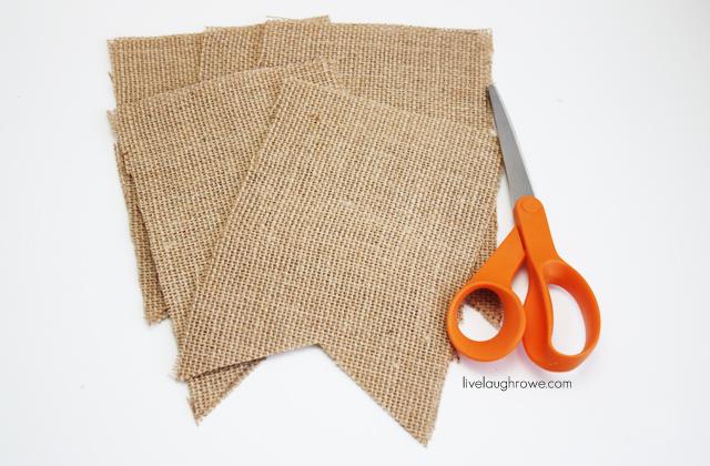 Cut the burlap pennants