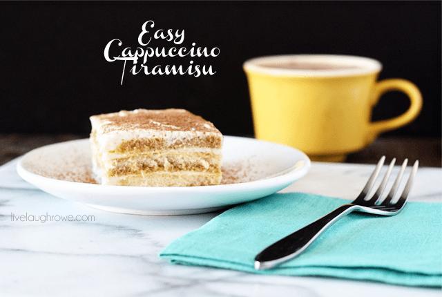 Delicious and Easy Cappuccino Tiramisu with livelaughrowe.com #CupOfKaffe #cbias #shop