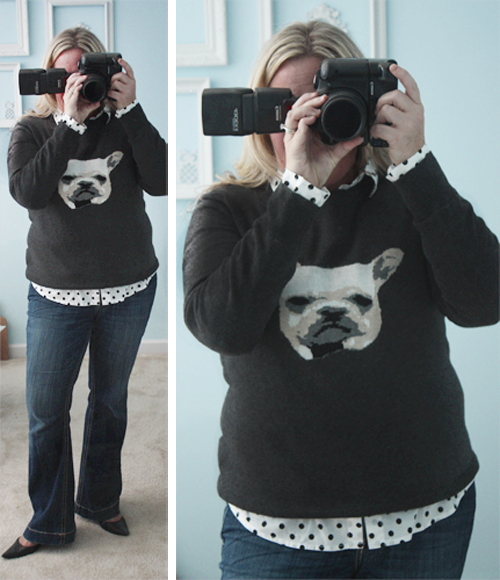Animal Sweater and Polka Dots for WIWW with livelaughrowe.com