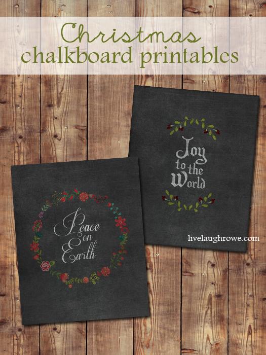 Chalkboard Christmas Printables with livelaughrowe.com