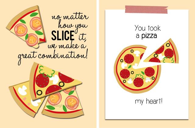 Printable Pizza Valentines