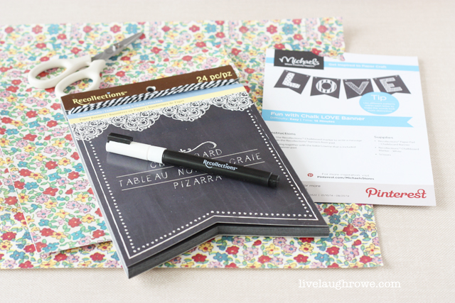 Recollections supplies for DIY Chalkboard Pennant Banner with livelaughrowe.com