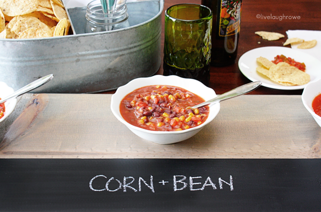 DIY Serving Tray with Chalkboard for labeling
