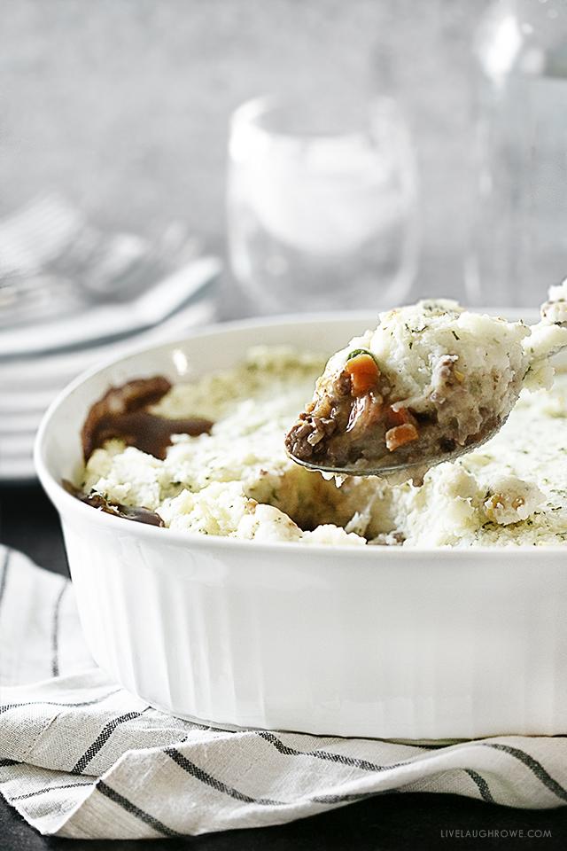 Easy Shepherd's Pie in Casserole Dish