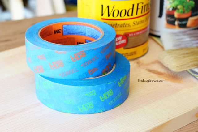 The star of the show. ScotchBlue Painters Tape