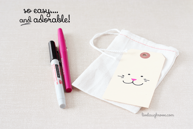 adorable and incredibly easy muslin easter treat bags