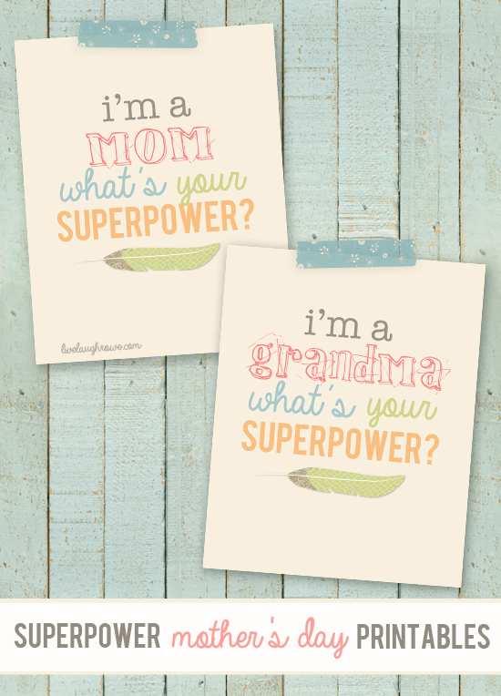 Superpower Mothers Day Printable