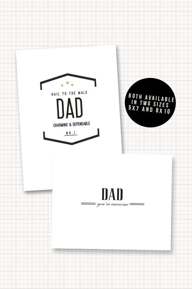 Free AWESOME Father's Day Printables with livelaughrowe.com