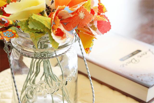 Fabric Flower Centerpiece