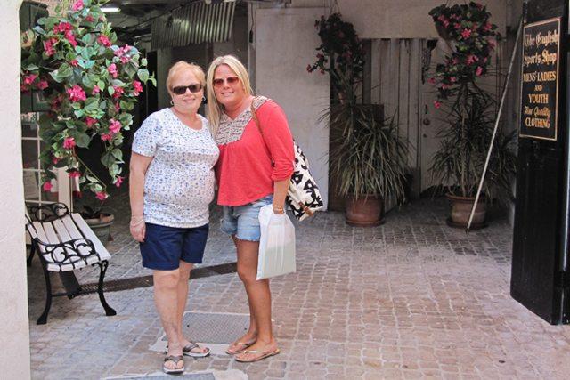 Mom and Kelly in Hamilton