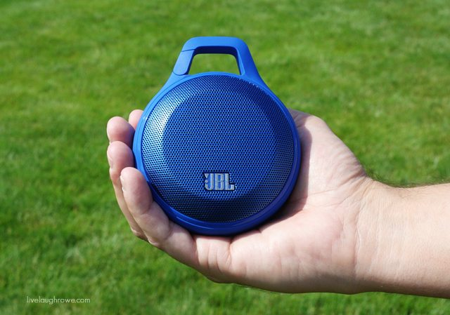 Best Buy's August Audio Fest Campaign, featuring the JBL Clip Portable Bluetooth Speaker.