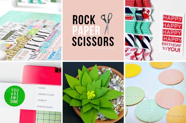 Featuring paper crafts that may or may not include Rock, Paper and Scissors!