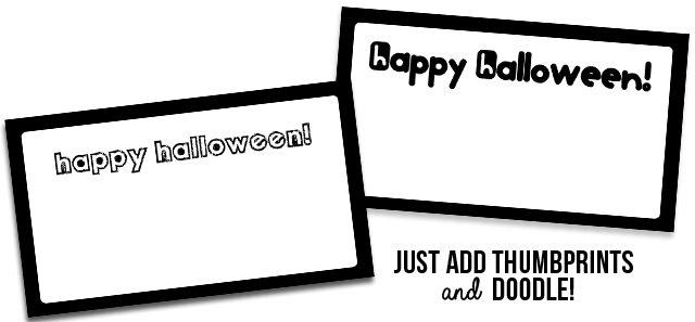 Happy Halloween Thumbprint Printables - www.livelaughrowe.com