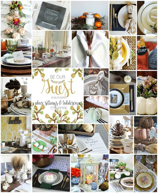 25 Bloggers sharing DIY Place Settings and Tablescapes! www.livelaughrowe.com