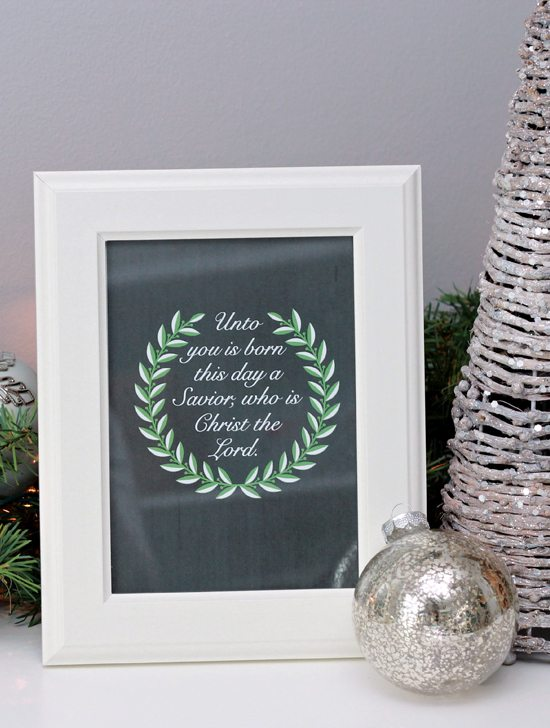Christmas Printable from Just a Girl and Her Blog