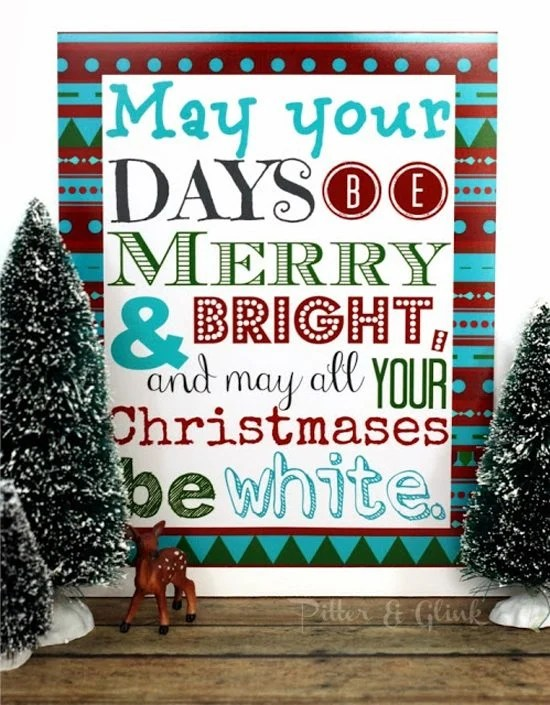 Christmas Printable from Pitter and Glink