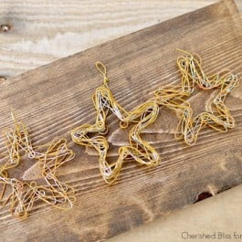 DIY Wire Star Ornament tutorial by Cherished Bliss for www.livelaughrowe.com #diy