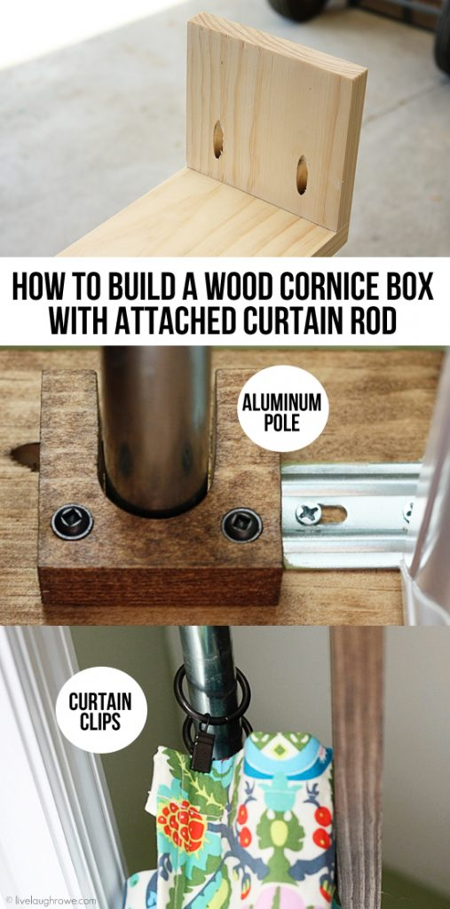 How To Build A Wood Cornice Box With Attached Curtain Rod