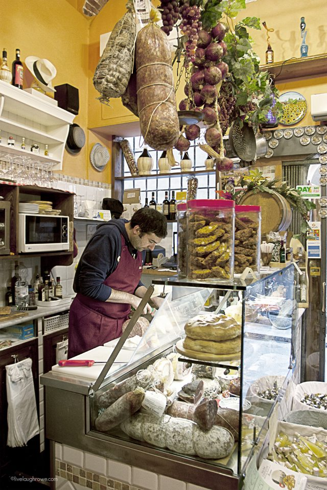 Amazing sandwiches at the Il Bufalo Trippone in Florence, Italy.