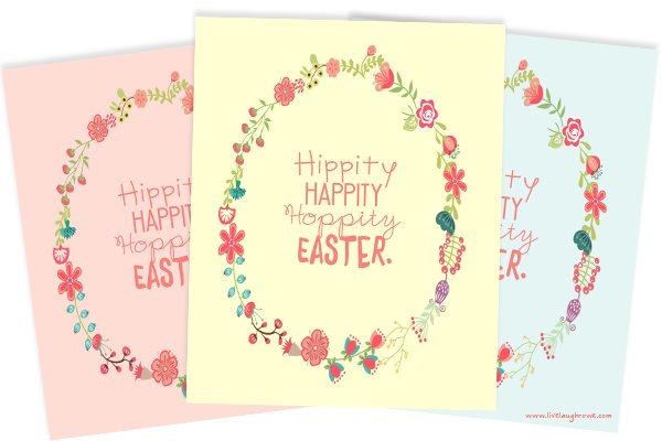 Hippity Happity Hoppity Easter Printables