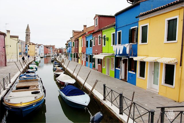 The breathtaking colors of the Island of Burano.  www.livelaughrowe.com