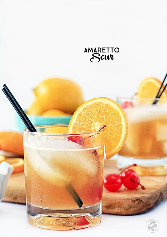 refreshing summer cocktails, amaretto sour