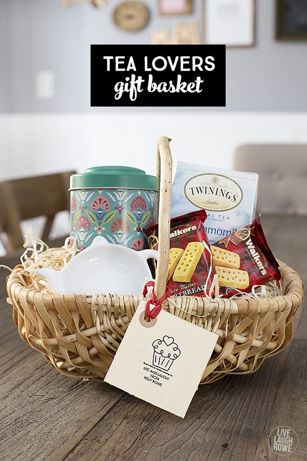 Give the gift of tea!  This is a fun gift for the tea lover and for less than $20. www.livelaughrowe.com