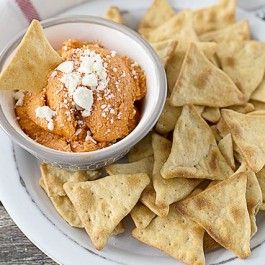 4 Ingredient (and simple) Roasted Red Pepper with Feta Dip! livelaughrowe.com