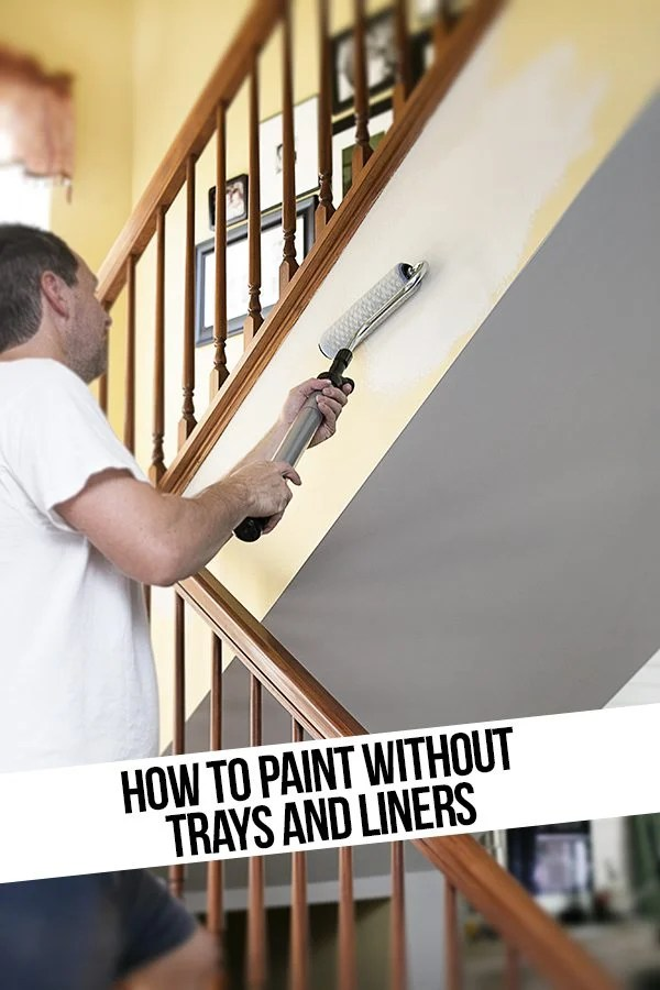 How to Paint without Trays and Liners? It's possible to still use a roller without a tray! Homeright Paintsticks to the rescue. livelaughrowe.com