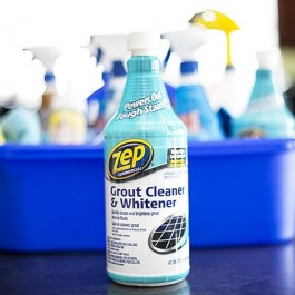 Snazzy up your grout with Zep Grout Cleaner and Whitener. Safe on colored grout too! livelaughrowe.com #ZepSocialstars