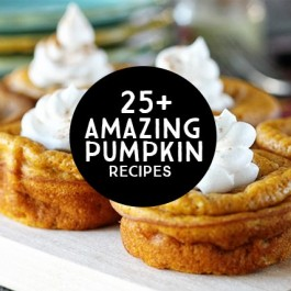 Pumpkin Lovers Rejoice! 25+ Amazing Pumpkin Recipes to feed that love for all things pumpkin. livelaughrowe.com
