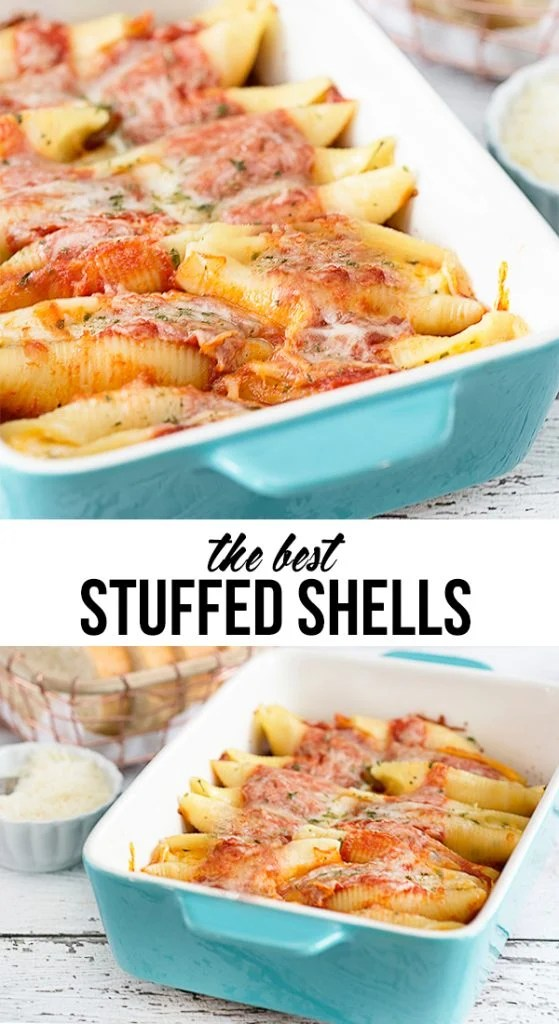 The BEST Stuffed Shells. A hearty meatless dish that will have your guests asking for the recipe! livelaughrowe.com