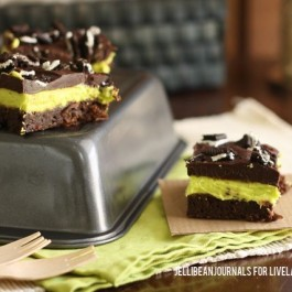 Delicious Thin Mint Brownies for Two!
