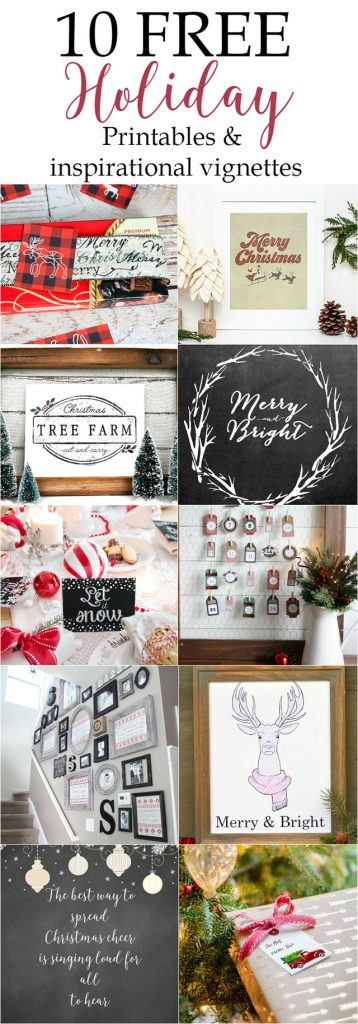 10 FREE Christmas Printables! Snatch yours up today.