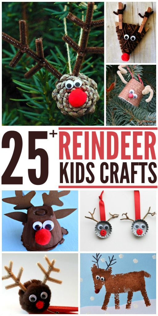 25+ Reindeer Crafts for Kids. Great winter projects too! livelaughrowe.com