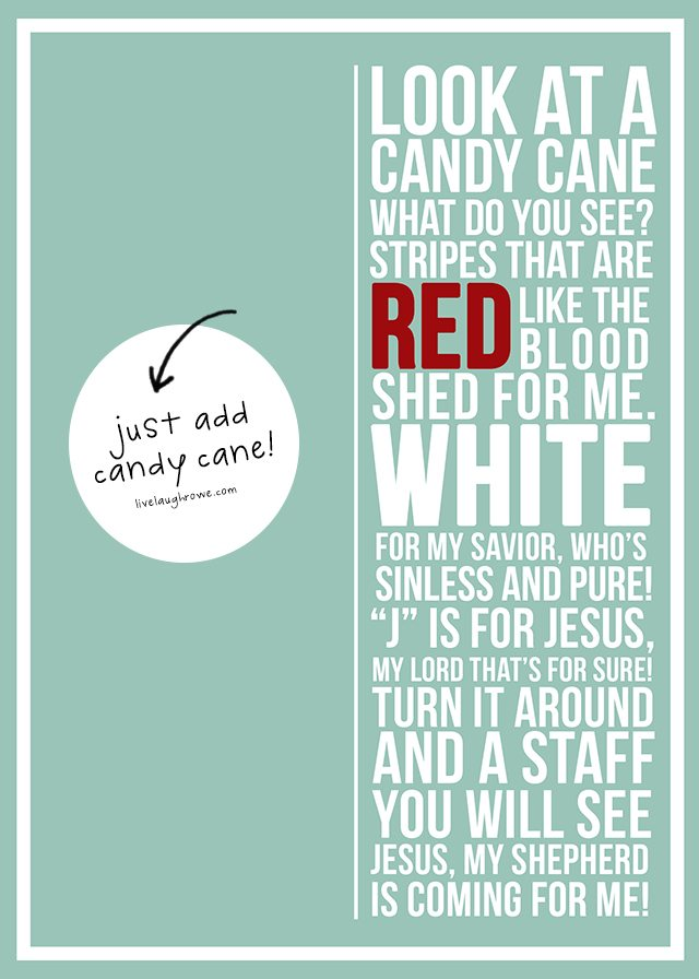 Candy Cane Poem Printable Live Laugh Rowe