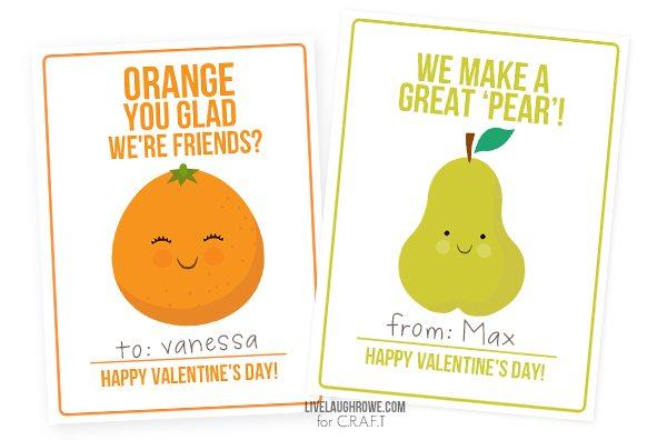 Adorable Fruit Valentines for Kids!