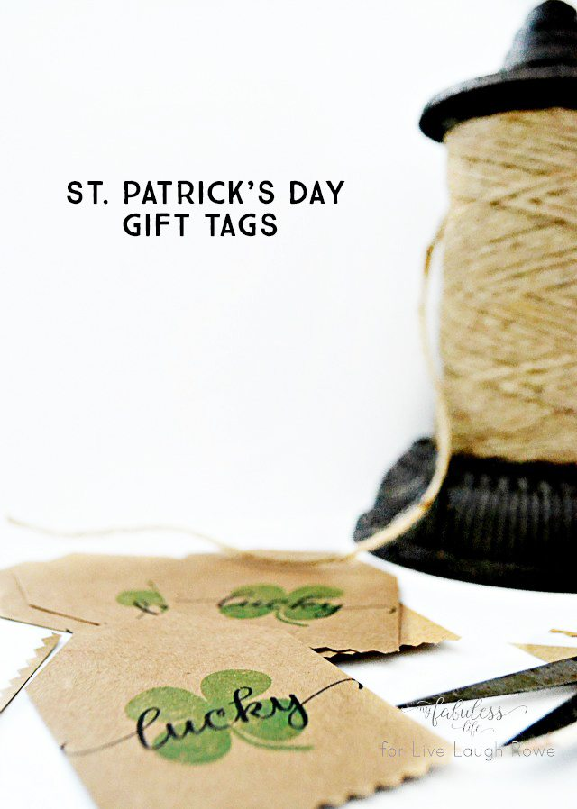 Free St. Patrick's Day Gift Tags. I love that they can be used as garland too!