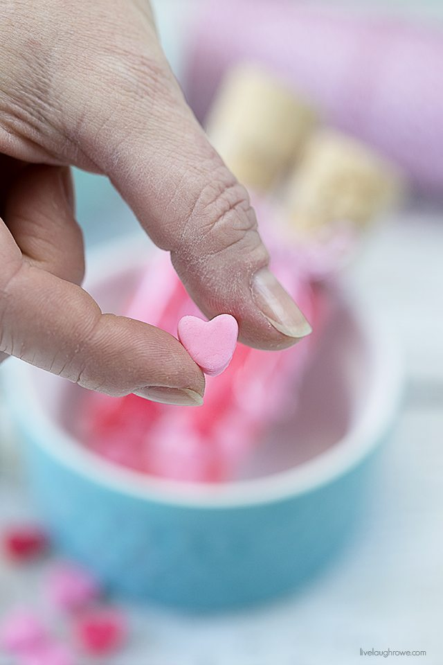 Creamy Pastel Mints for Valentine's Day!! Fun, delicious and easy to make for gifts. livelaughrowe.com