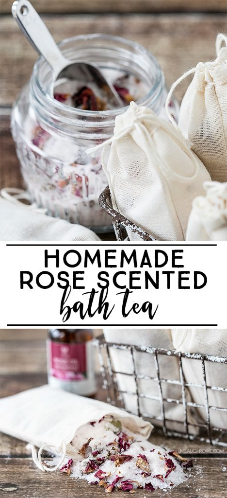 This Rose scented homemade bath tea is great for promoting relaxation. The lightly scented rose oil used contains three oils -- all used for wellness. An easy recipe to use for pampering yourself or gifting to family and friends.