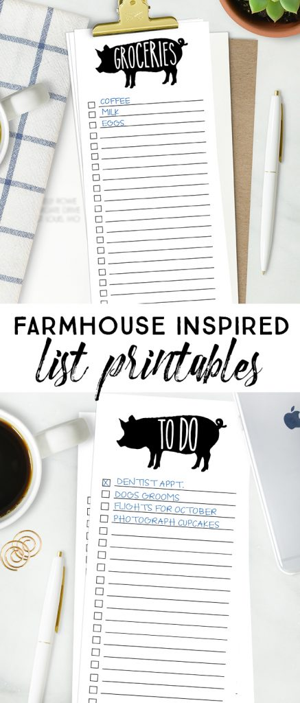 Sometimes lists are my only saving grace! This farmhouse printable grocery list isn't only cute, but it's a lifesaver too. There's a printable to-do list too. Grab yours at livelaughrowe.com