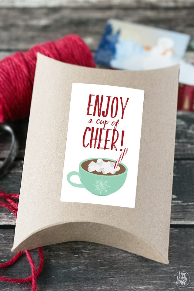 Cup of Cheer Printable  Hot Chocolate Gift Idea  Live