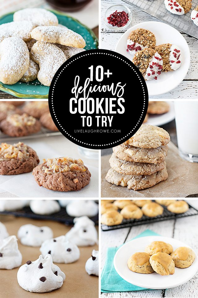 10+ Delicious Cookies you'll want to try! Which one will you try first? livelaughrowe.com