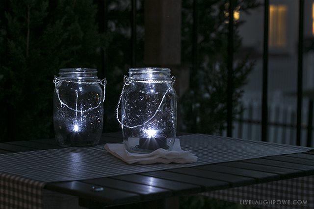 LED Mason Jar Inserts. livelaughrowe.com