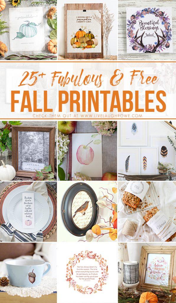 25+ Free and Fabulous Fall Printables. livelaughrowe.com
