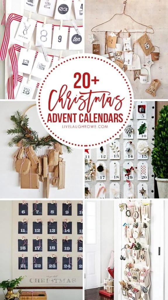 20+ FABULOUS and creative DIY Christmas Advent Calendars to inspire you! livelaughrowe.com