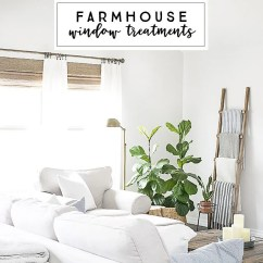 Living Room Window Treatments Pictures Value City Furniture Chairs Neutral Farmhouse Style Live Laugh Rowe Beautiful With Flare From Levolor Natural Shades To Linen Curtains