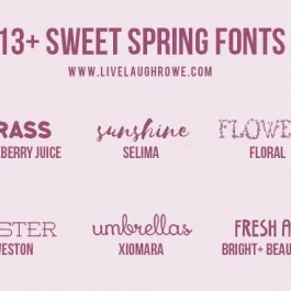 Find inspiration browsing through these FREE Spring Fonts. With over thirteen creative fonts to choose from, you're sure to find a new favorite. livelaughrowe.com