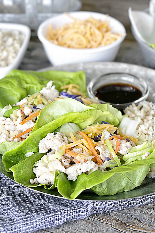 Looking for something a little lighter and brighter to eat? These Ground Turkey Lettuce Wraps are easy and delicious! A large portion coming in at only 6 Freestyle SmartPoints. Recipe at livelaughrowe.com